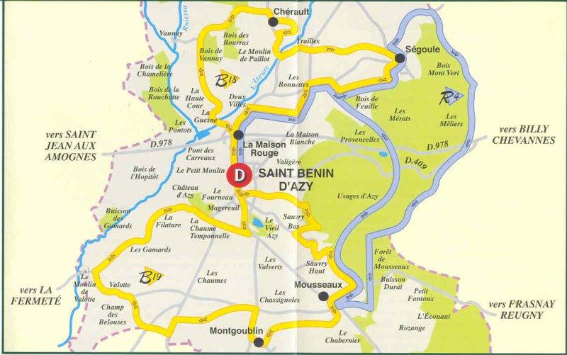 Randonnees Tourisme Commune De Saint Benin D Azy